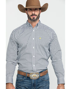 Ariat Men's Hully Stretch Geo Print Fitted Long Sleeve Western Shirt , Multi, hi-res