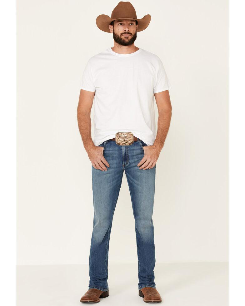 Wrangler Retro Men's Starry Night Stretch Slim Bootcut Jeans - Long , Blue, hi-res