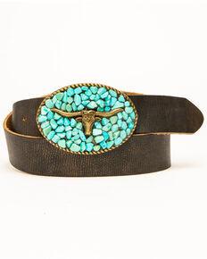 b98f5620b Idyllwind Women's Turquoise Longhorn Belt
