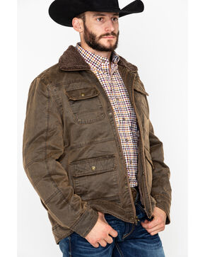 Cripple Creek Men's Pocket Snap Zip-Up Jacket  , Chocolate, hi-res