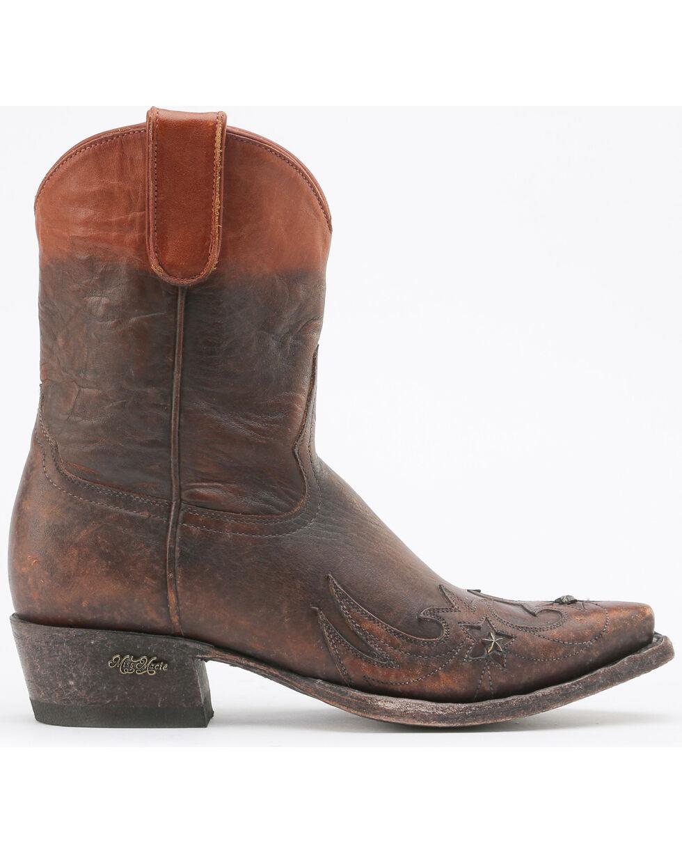 Miss Macie Women's Brown Weatherford Short Boots - Snip Toe , Brown, hi-res