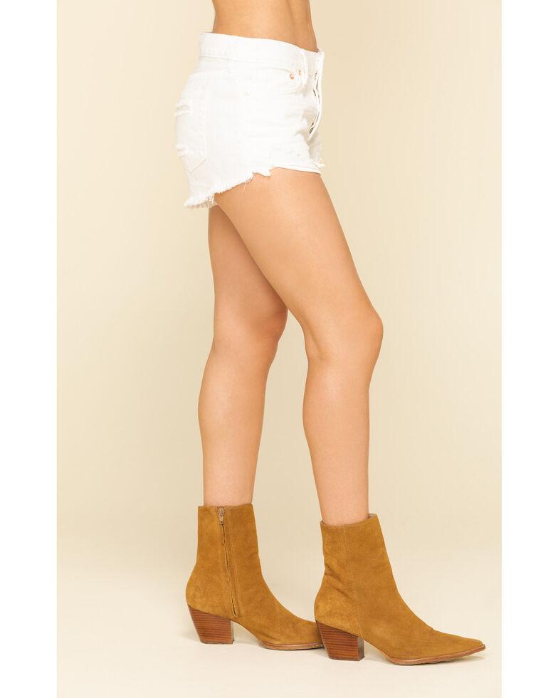 Free People Women's Ivory Loving Good Vibrations Shorts, Ivory, hi-res