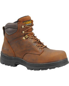 Carolina Men's Brown Waterproof Workboots - Round Toe, Brown, hi-res