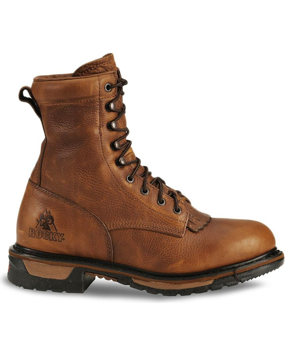 Rocky Men's Ride Waterproof Western Boots, Tan, hi-res