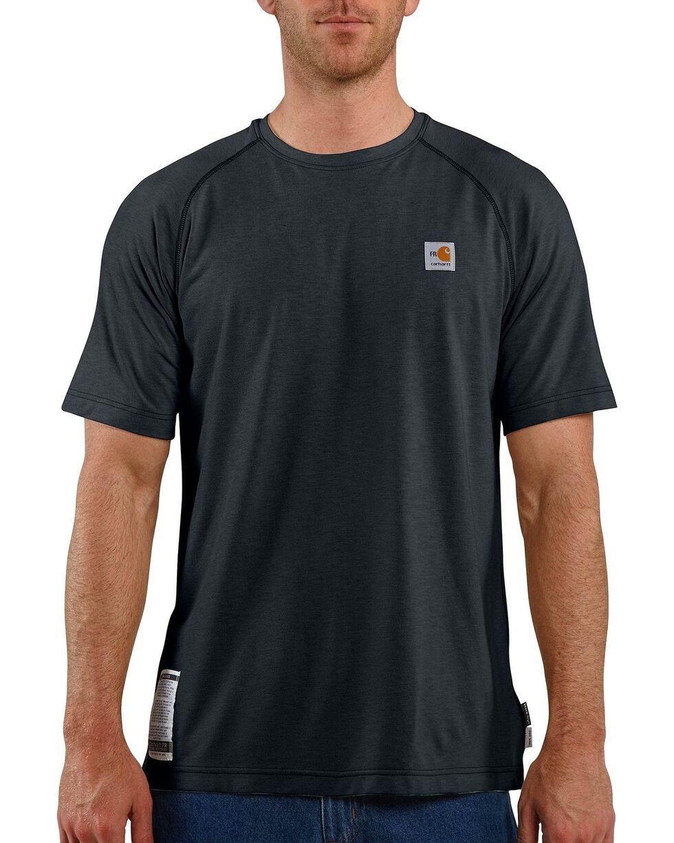 Carhartt Flame Resistant Force Short Sleeve Work Shirt, Navy, hi-res