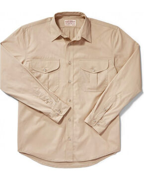 Filson Men's Feather Cloth Shirt, Tan, hi-res
