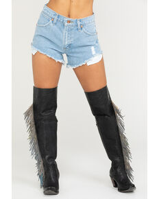 Wrangler Modern Women's Denim Reworked Shorts, Blue, hi-res