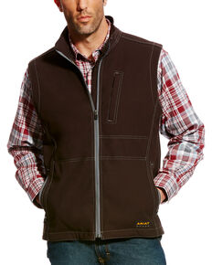 Ariat Men's Rebar Canvas Softshell Vest - Tall, Black, hi-res