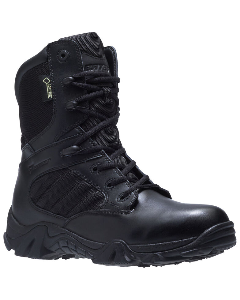 Bates Men's GX-8 Waterproof Work Boots - Soft Toe, Black, hi-res