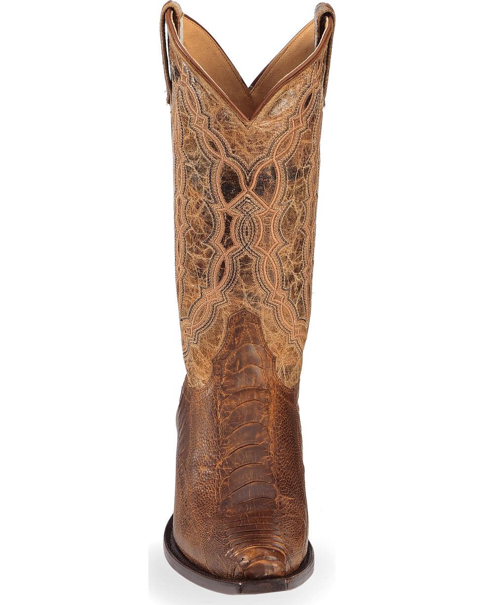 Cody James Men's Ostrich Leg Exotic Boots - Snip Toe, Brown, hi-res