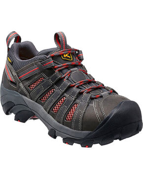 Keen Women's Flint Low Steel Toe Work Shoes, Grey, hi-res