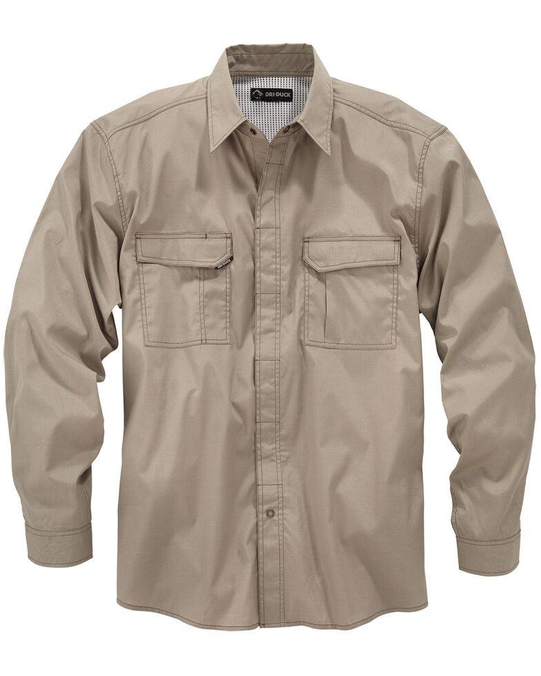 Dri Duck Men's Field Long Sleeve Work Shirt, Khaki, hi-res