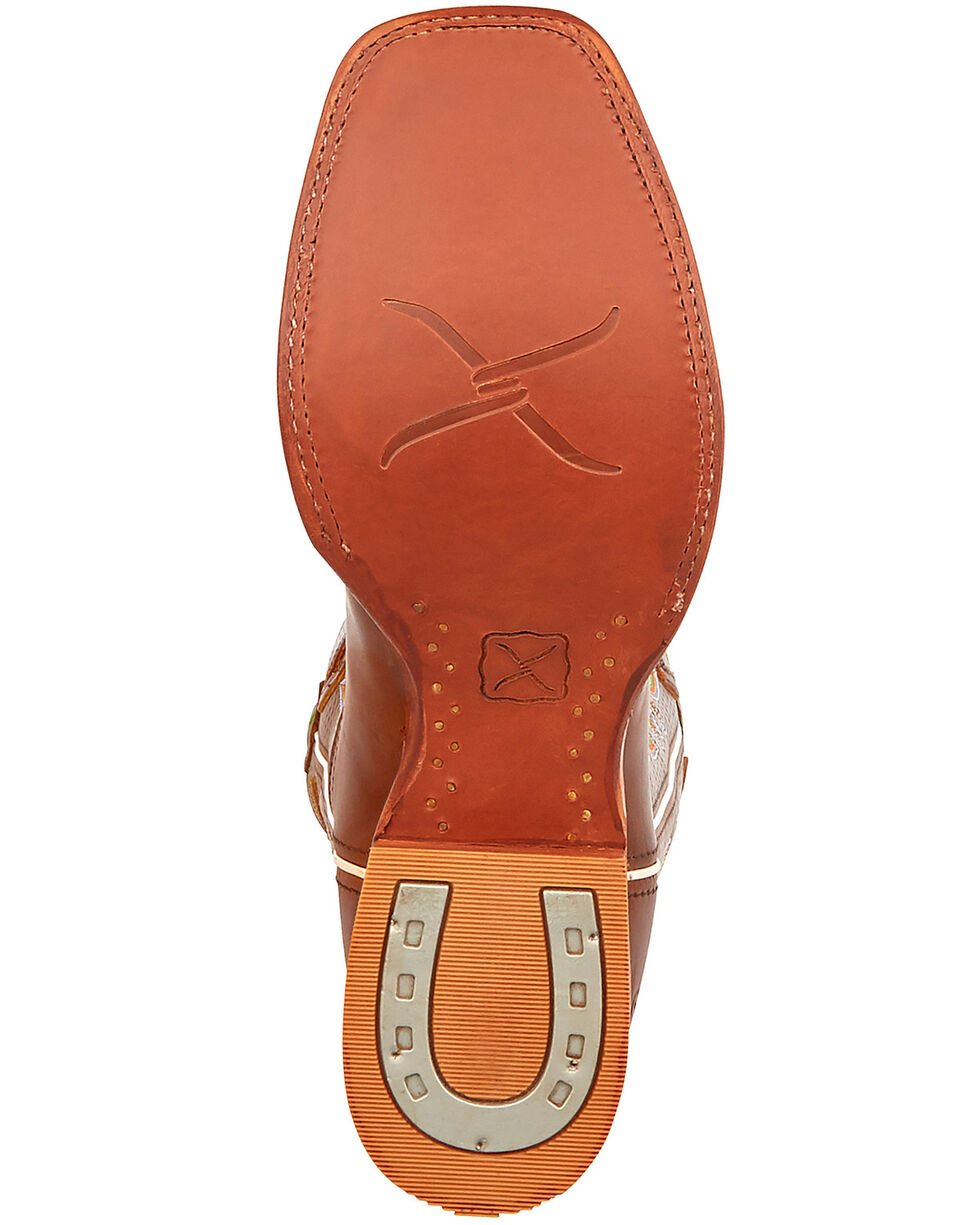 Twisted X Men's Ruff Stock Rancher Western Boots - Wide Square Toe, Chocolate, hi-res