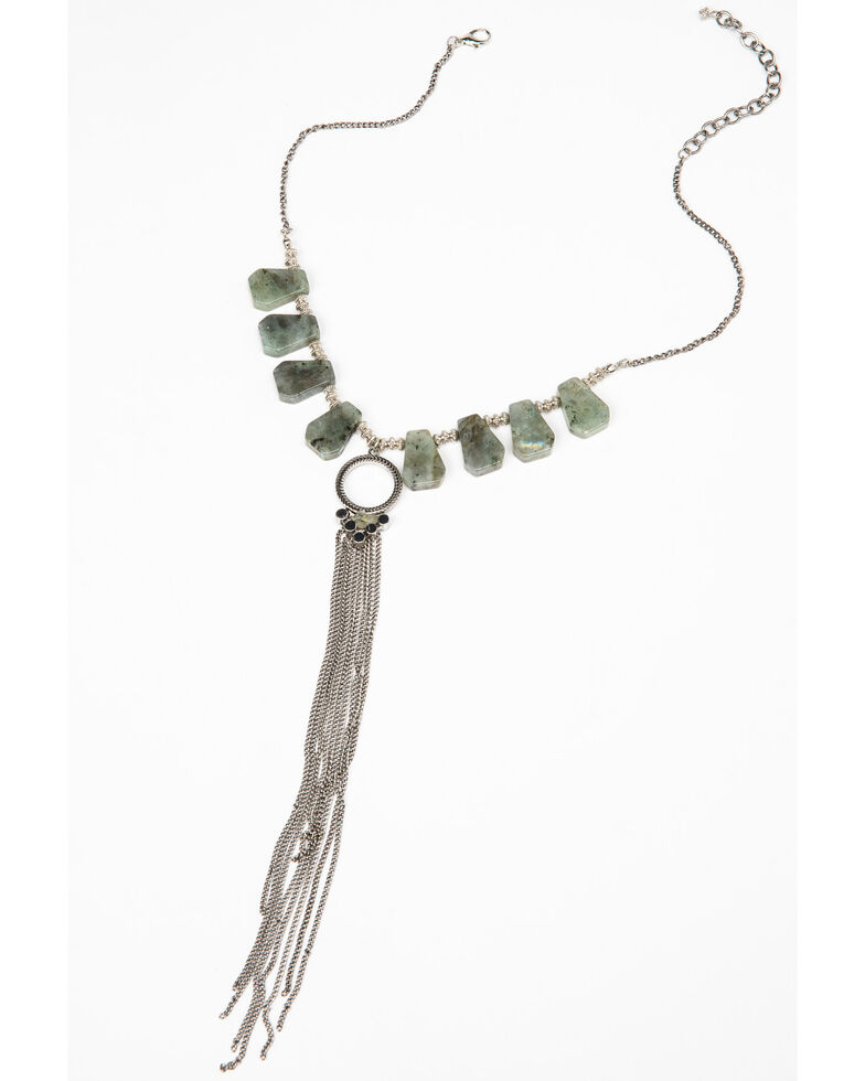 Idyllwind Women's Tumbling Like Tumbleweeds Fringe Necklace, Silver, hi-res