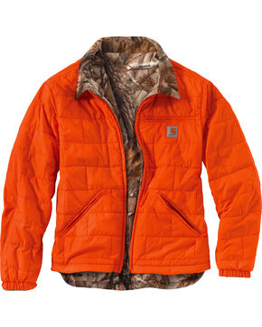 Carhartt Men's Reversible Woodsville Jacket, Orange, hi-res