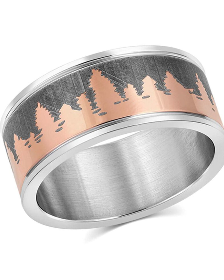 Montana Silversmiths Women's Woodland Glory Ring, Silver, hi-res