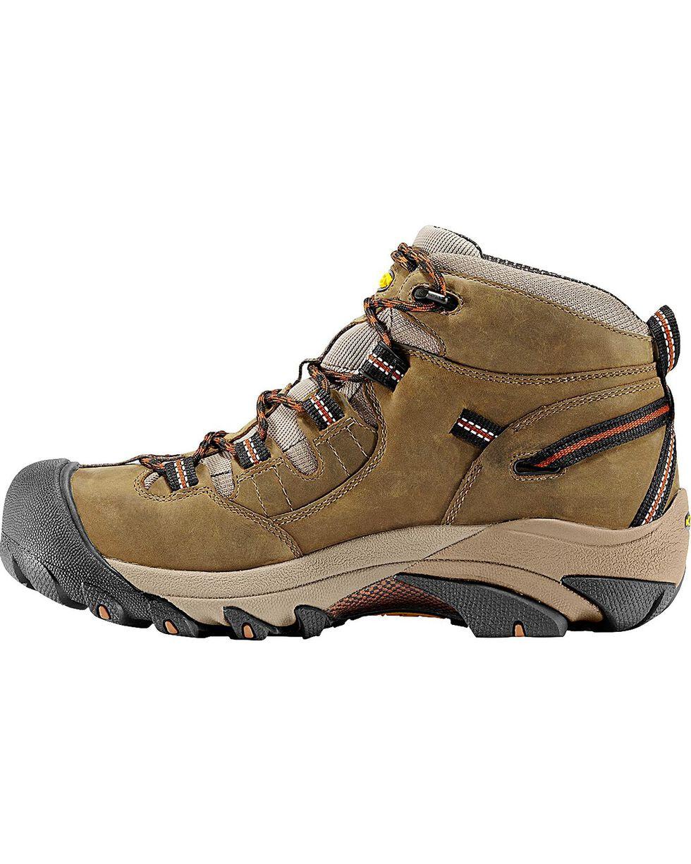 Keen Footwear Men's Detroit Lace-Up Waterproof Work Boots, Olive, hi-res