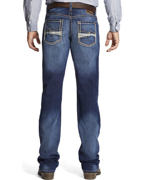 Ariat Men's M4 Whitewash Boot Cut Jeans, Indigo, hi-res