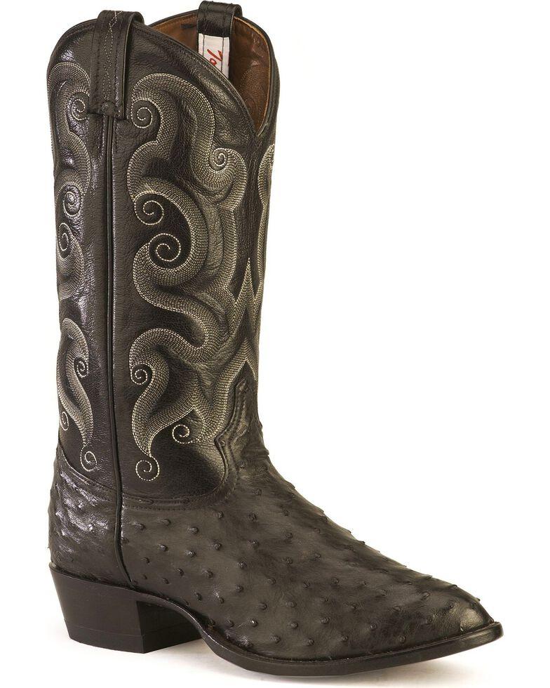 """Tony Lama Men's 13"""" Exotic Western Boots, Black, hi-res"""