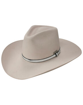 Resistol Men's John Wayne War Wagon 6x Felt Cowboy Hat, Silver Belly, hi-res