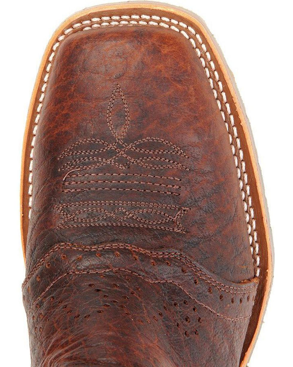 Double-H Men's Square Steel Toe Western Boots, Bison, hi-res