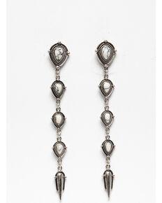 Shyanne Women's White Falls Dagger Linear Earrings, Silver, hi-res