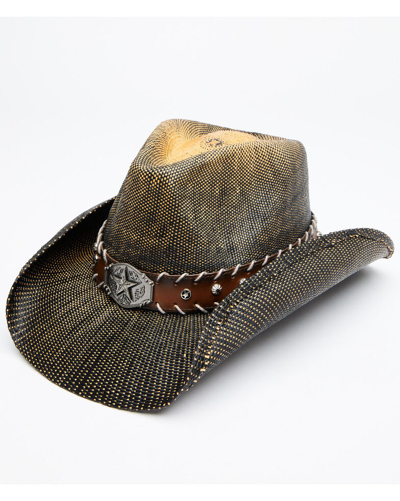 Cody James Boys' Brown O John Bangor Straw Western Hat , Brown, hi-res
