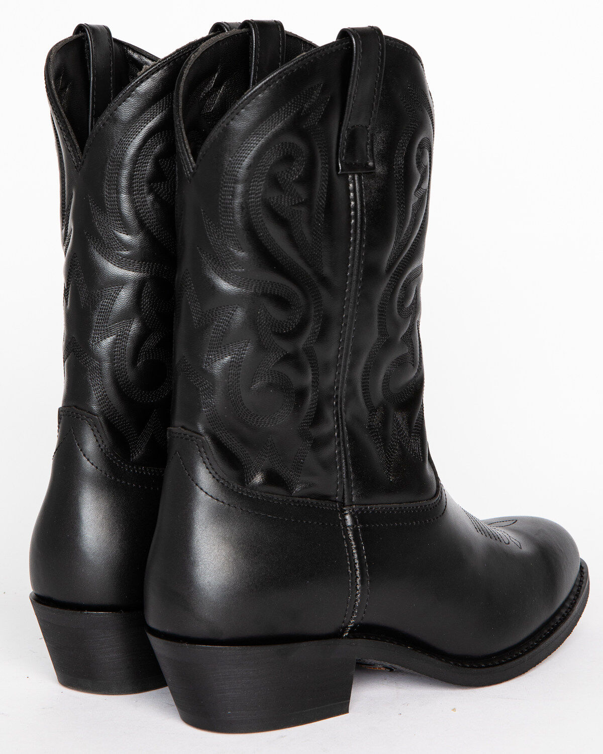 Men's Classic Black Embroidered Western