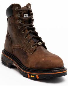 "Cody James Men's 8"" Decimator Work Boots - Nano Composite Toe, Brown, hi-res"