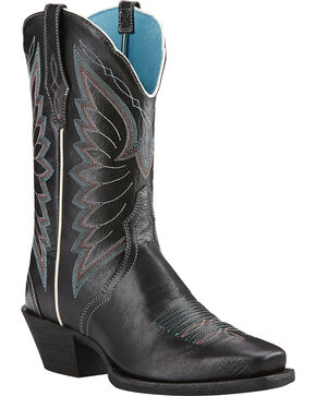Ariat Women's Autry Western Boots, Black, hi-res