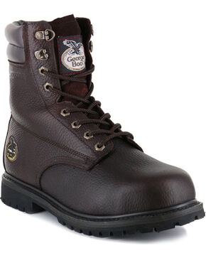 Georgia Men's Steel Toe Oiler Work Boots, Brown, hi-res