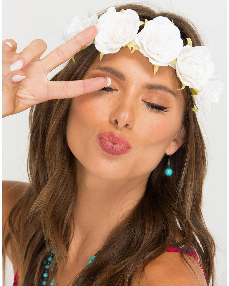 Shyanne womens white rose flower wreath headband boot barn shyanne womens white rose flower wreath headband white hi res mightylinksfo