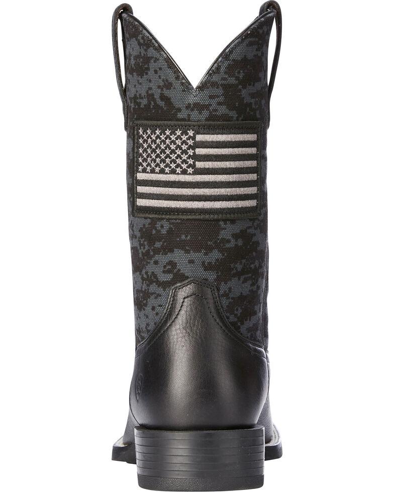 Ariat Men's Black Camo Sport Patriot Western Boots - Square Toe , Black, hi-res