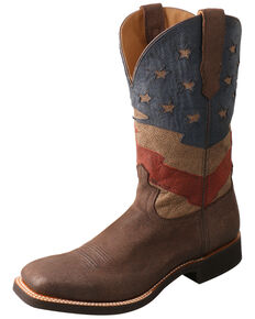 Twisted X Men's Patriotic Rancher Western Boots - Wide Square Toe, Multi, hi-res