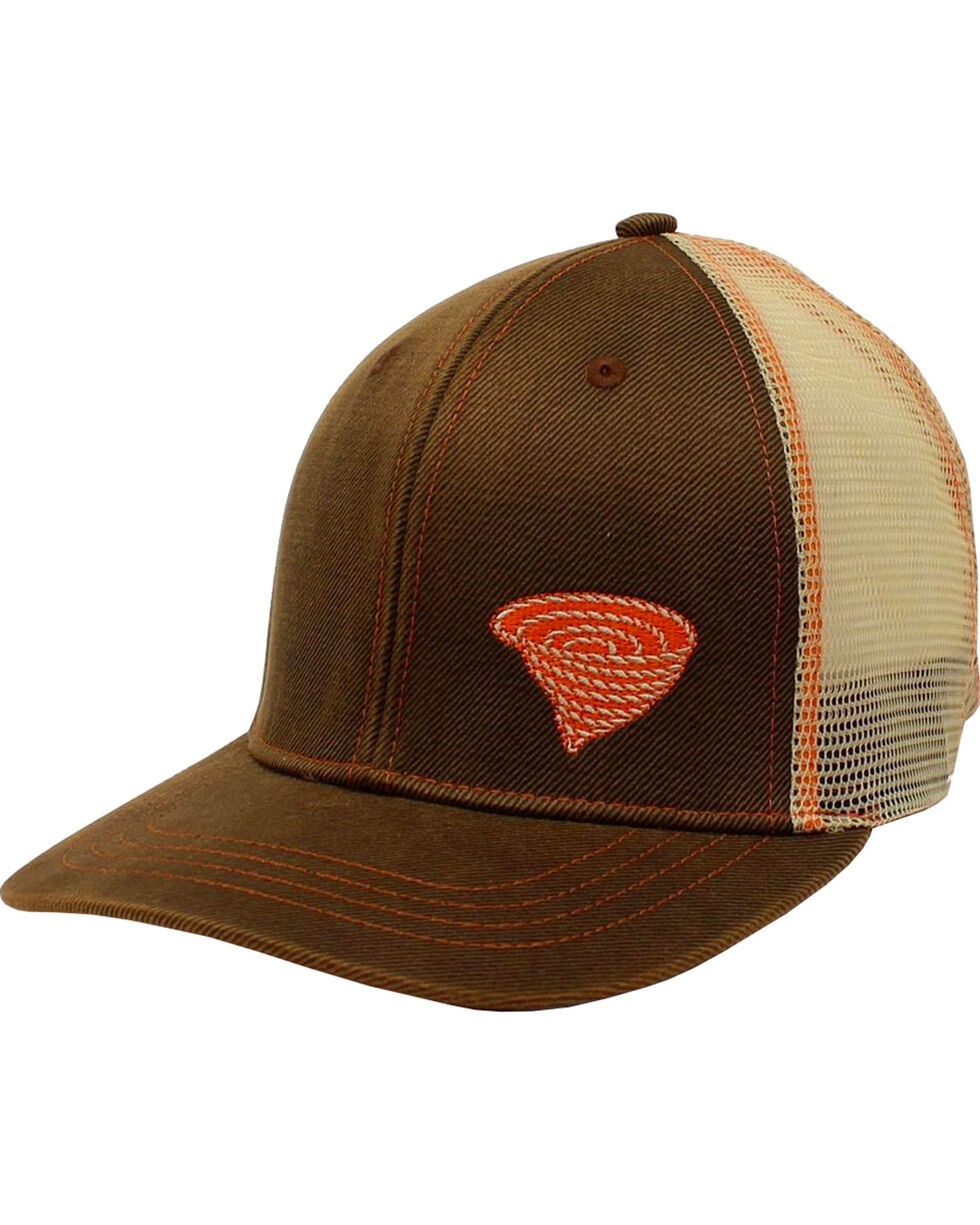 Twister Men's Brown with Orange Accents Baseball Cap , Brown, hi-res