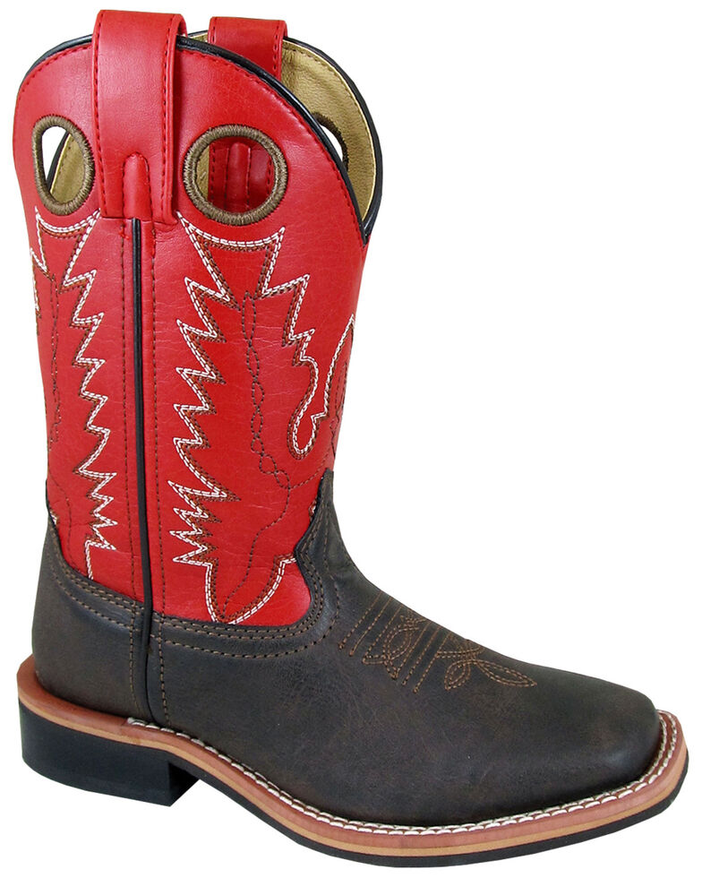Smoky Mountain Youth Boys' Blaze Western Boots - Square Toe, Red/brown, hi-res