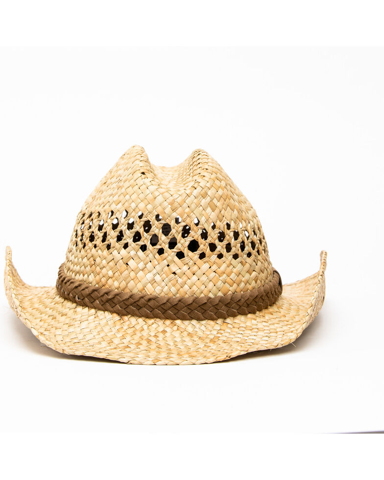 Cody James Men's Fashion Seacress West Western Straw Hat , No Color, hi-res