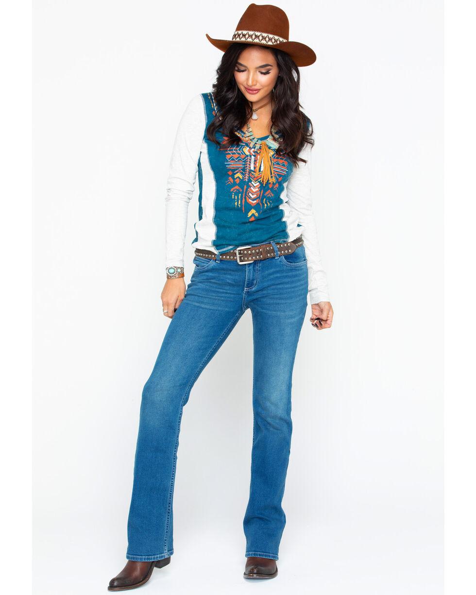 Wrangler Retro Women's Sadie Low-Rise Boot Jeans , Medium Blue, hi-res