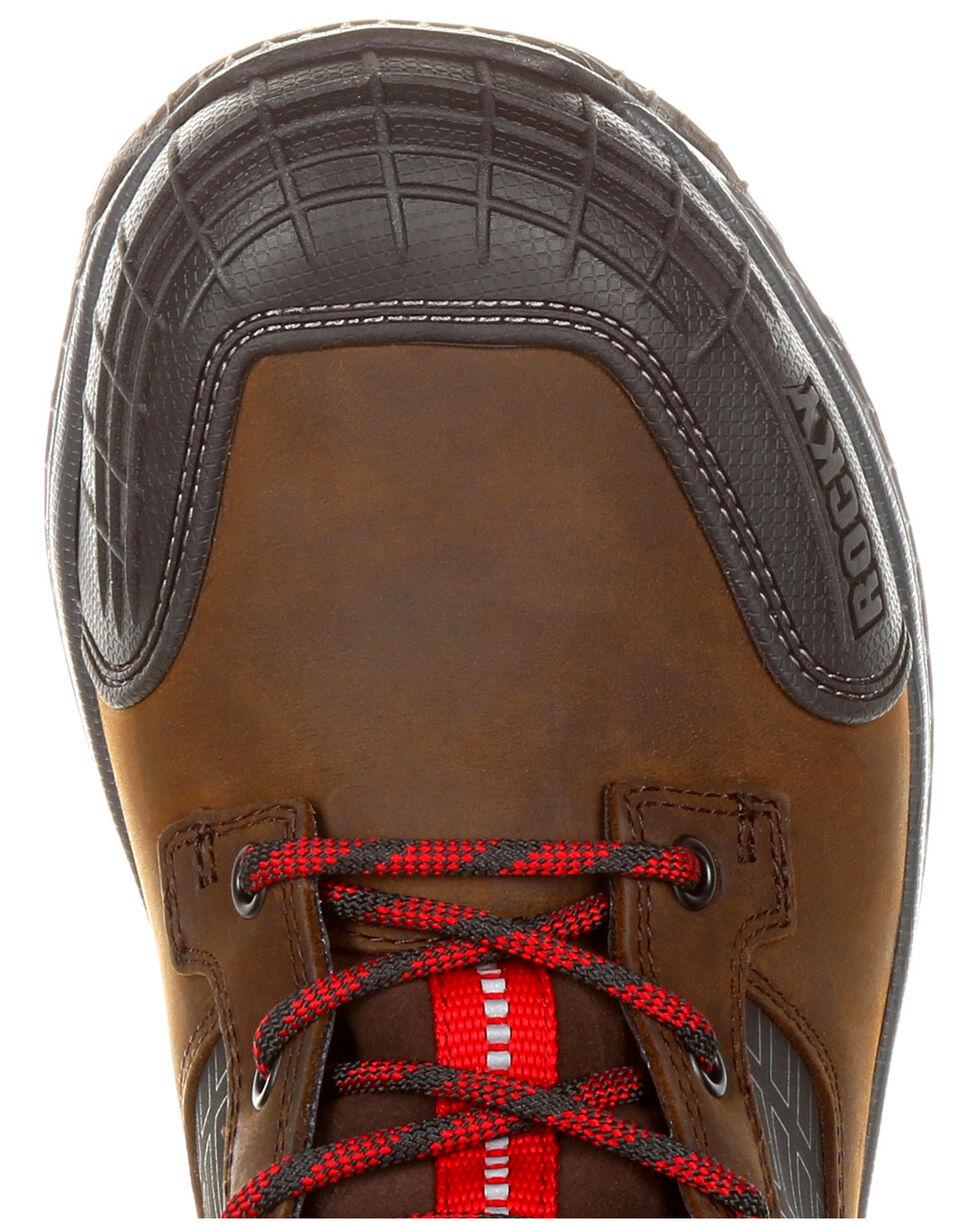 Rocky Men's Treadflex Waterproof Work Boots - Round Toe, Dark Brown, hi-res