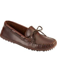 Men's Minnetonka Original Cowhide Driving Moccasins, Dark Brown, hi-res