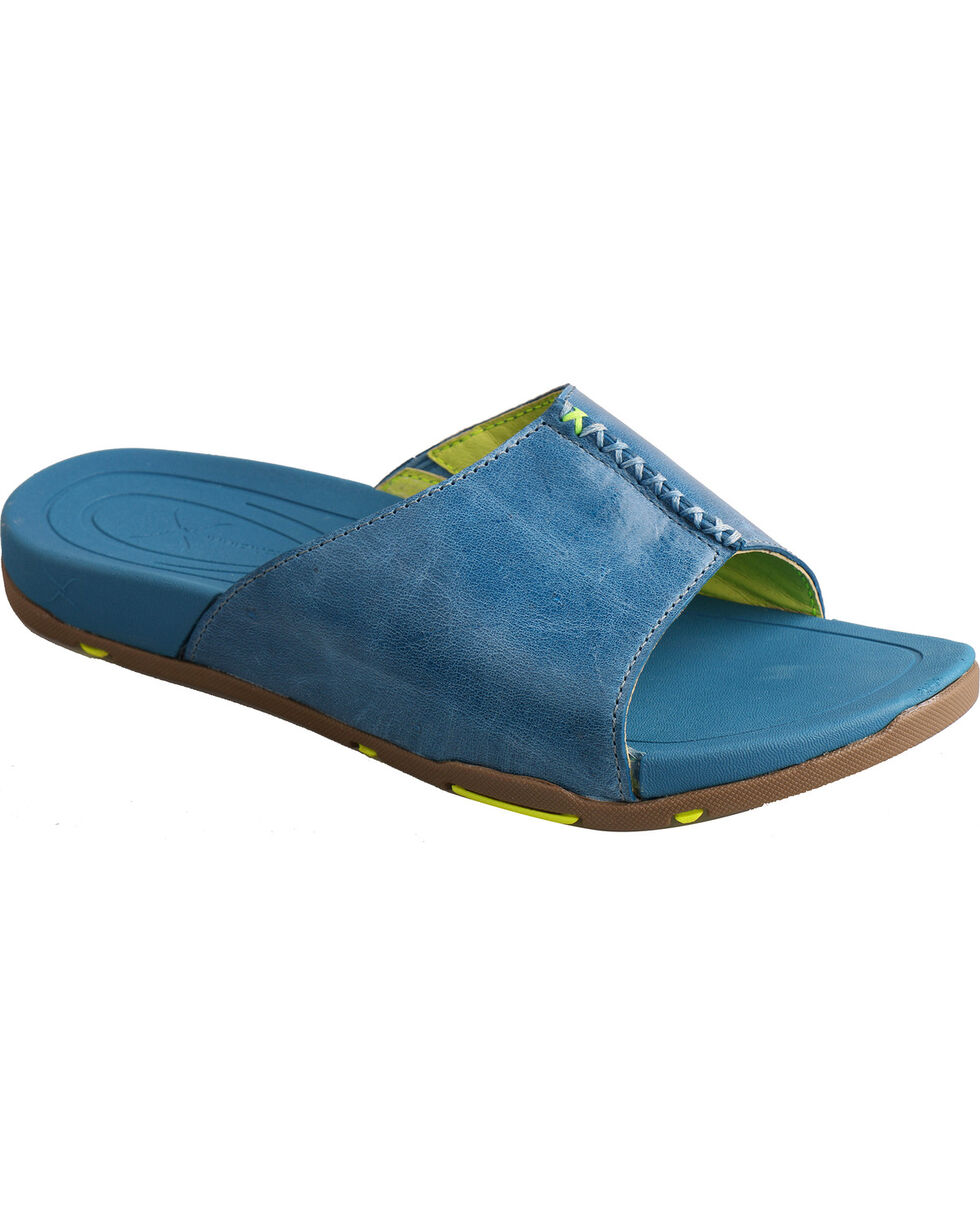 Twisted X Women's Slip-On Sandals, Blue Dust, hi-res