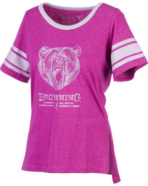 Browning Women's Gardenia Fuchsia Short Sleeve Shirt, Fuchsia, hi-res