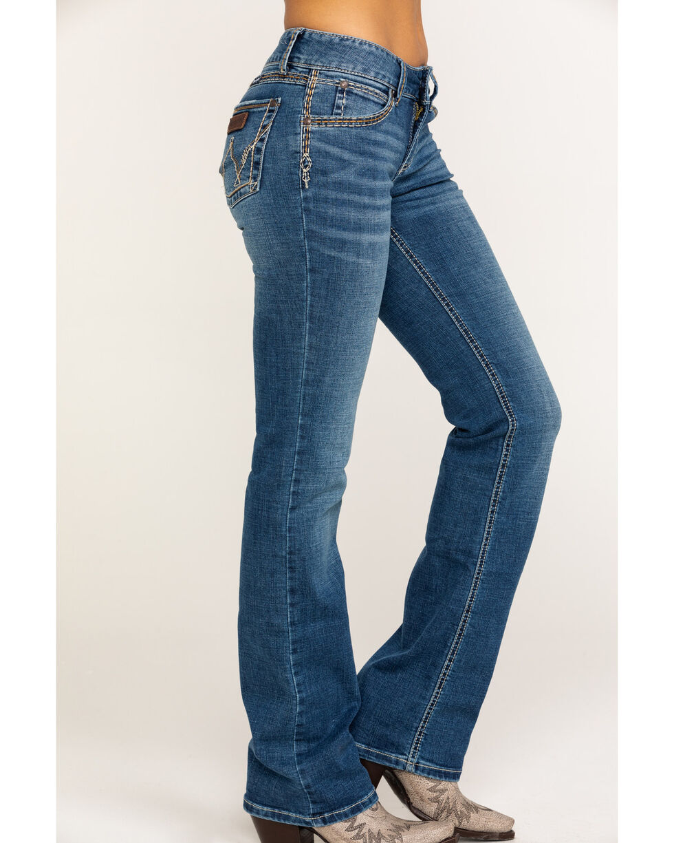 Wrangler Retro Women's Sadie Cheyenne Low Rise Boot Jeans , Light Blue, hi-res