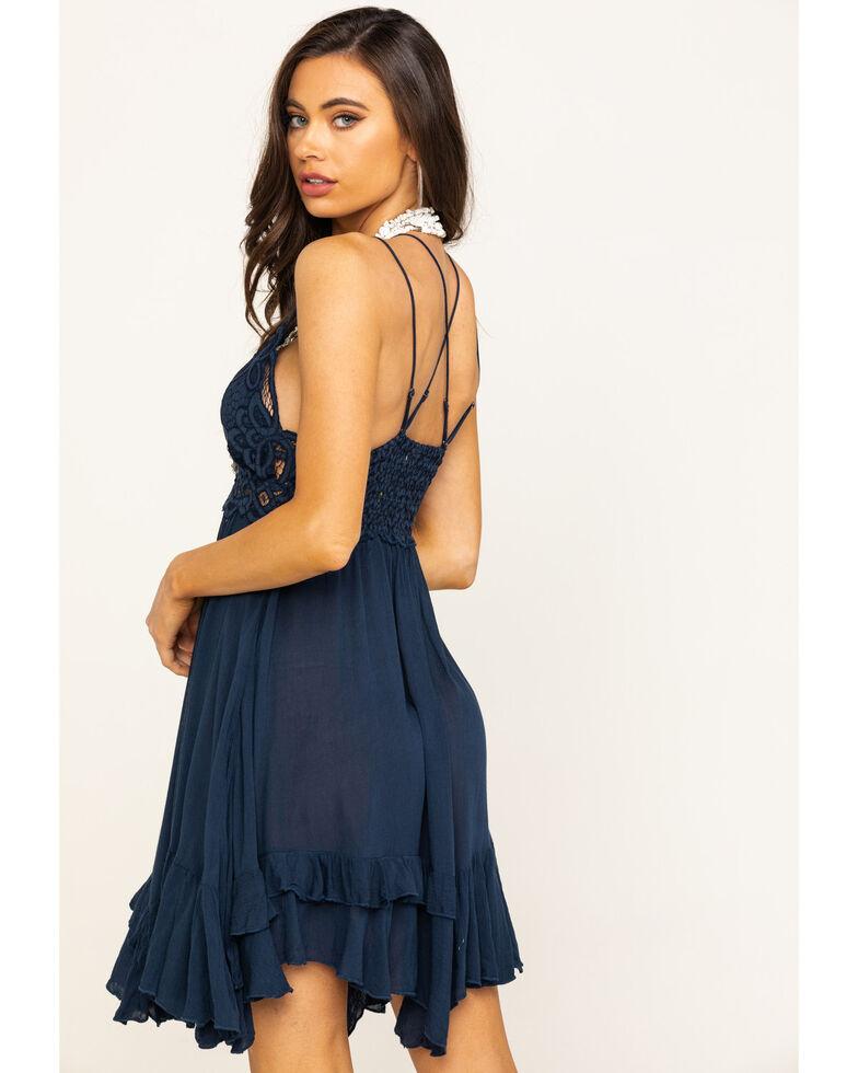 Free People Women's Adella Slip Dress, Navy, hi-res
