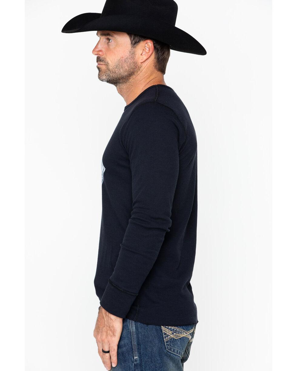 Cody James Men's Diamond Badge Long Sleeve Thermal Shirt, Black, hi-res