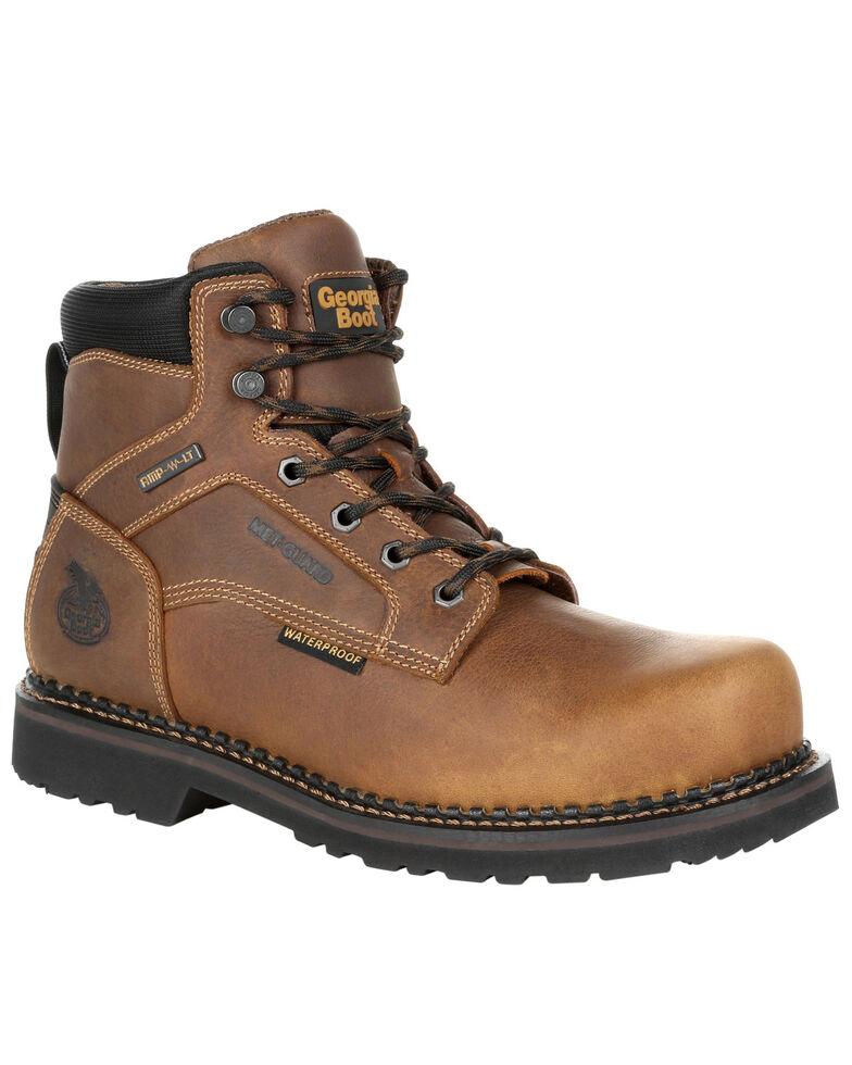 Georgia Boot Men's Giant Revamp Waterproof Work Boots - Steel Toe, Brown, hi-res