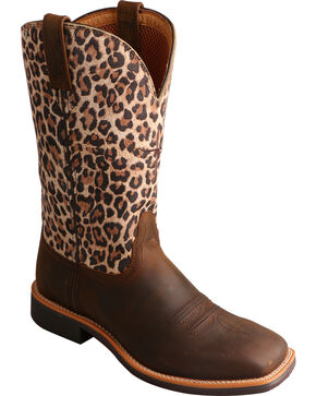 Twisted X Women's Cheetah Print Western Boots, Brown, hi-res