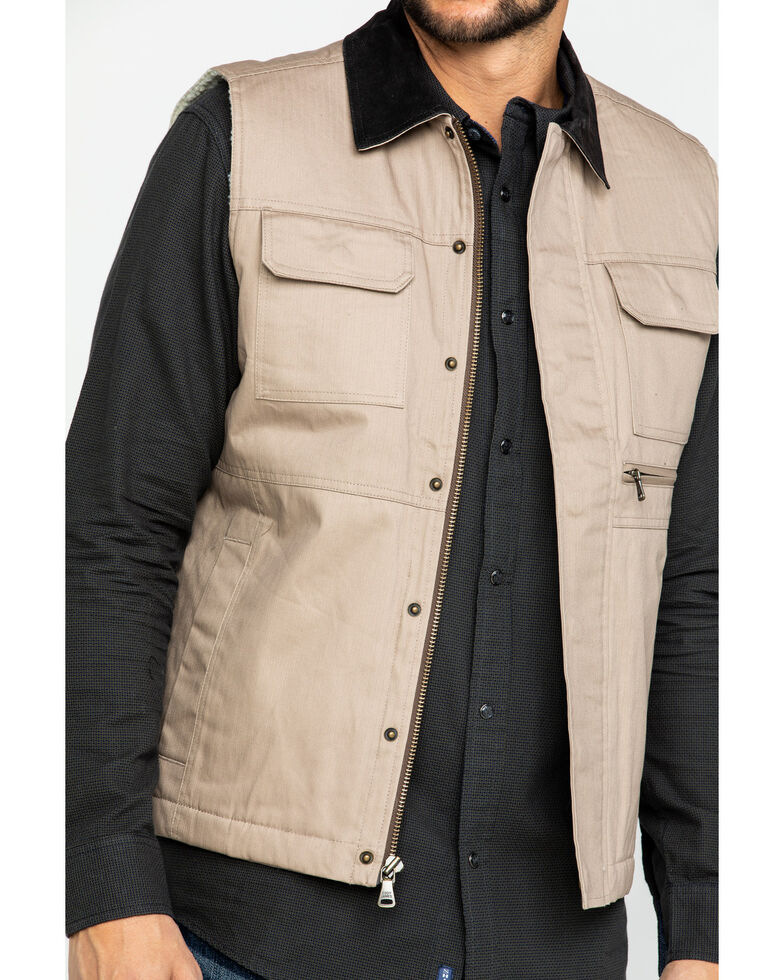 Cody James Men's Tan Ranchero Timberwolf Canvas Vest , Tan, hi-res