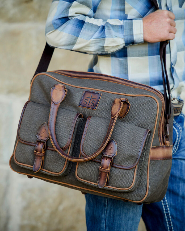 STS Ranchwear Foreman Weekender Bag, Brown, hi-res