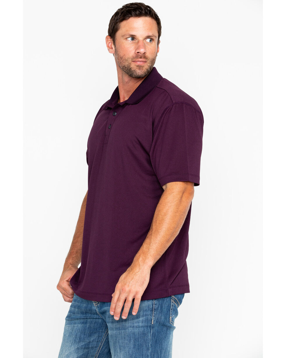 Cody James Men's Purple Short Sleeve Polo Shirt, Purple, hi-res